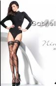 'Gabriella Hosiery' CALZE NINA HOLD UPS 20 DEN Wide Lace Band [Size XS/S] (210)